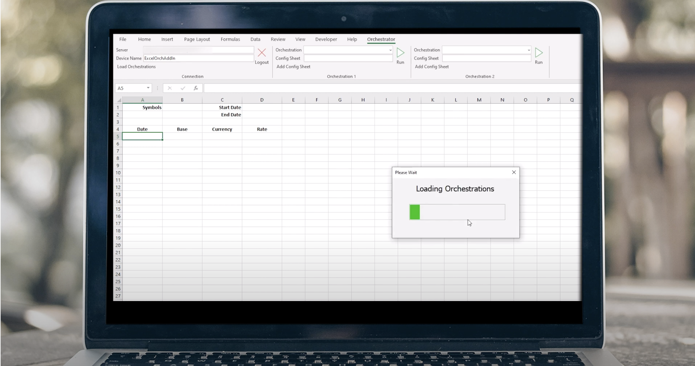 Excel Add-in orchestration from ERP Suites